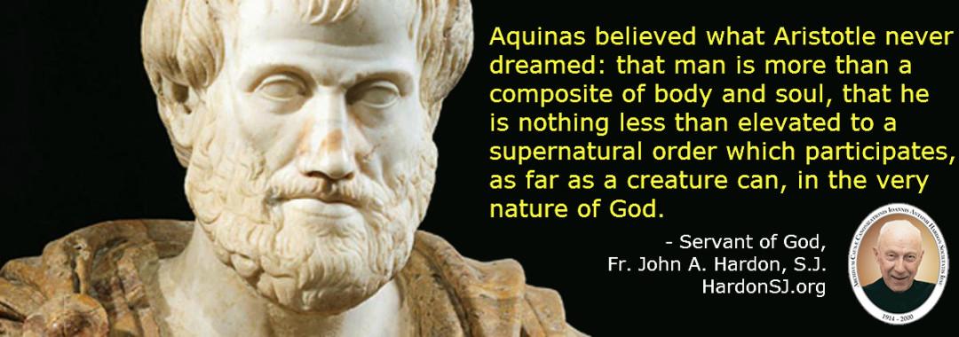 comparison of plato aquinas aristotle and