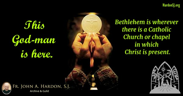 The Eucharist is Christmas carried forward